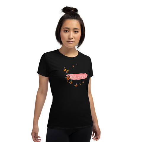 Women's Butterfly Graphic Short Sleeve Tee