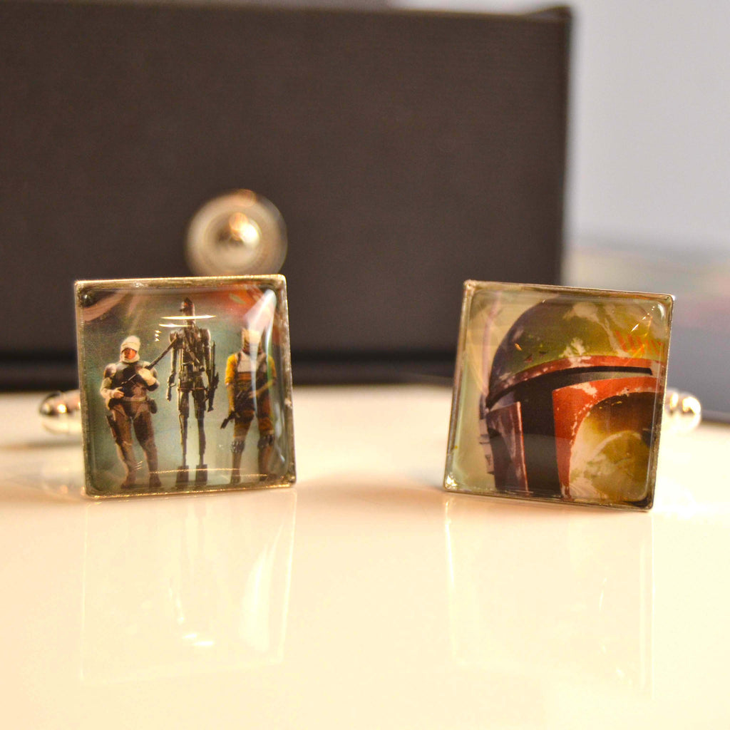 Star Wars Cufflinks  - Boba Fett Stamp