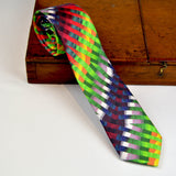 Men's Multi Coloured Silk Tie - Nineteenthirty Menswear - 3