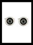 Rhodium Compass Cufflinks - Nineteenthirty Menswear - 1