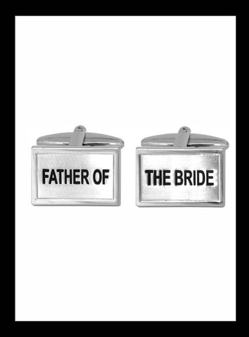 Wedding cufflinks; Father of the Bride