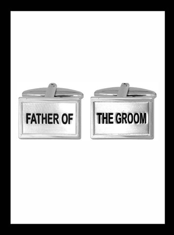 Wedding cufflinks; Father of the Groom
