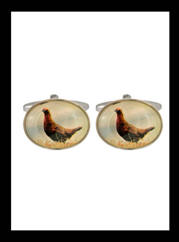 Grouse rhoduim cufflinks