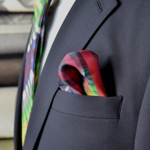 Multi colour Silk pocket square