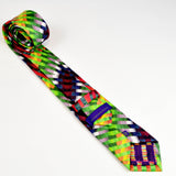 Men's Multi Coloured Silk Tie - Nineteenthirty Menswear - 4