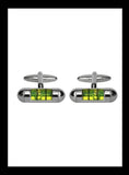 Spirit level green cufflinks - Nineteenthirty Menswear - 1