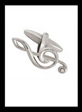 Metallic silver treble clef cufflinks - Nineteenthirty Menswear - 2