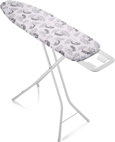 Bartnelli Rorets Ironing Board with Cover Pad, Height Adjustable, Safety Iron Rest, Safety Storage Lock, 4 Leg, 3 Layer Pad, Home Laundry Room or Dorm Use