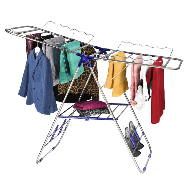 Stainless-Steel Adjustable Gullwing Drying Rack Stand