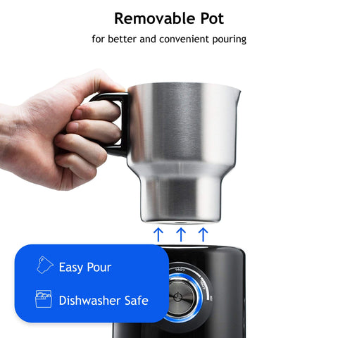 Souvia Automatic Milk Frother and Steamer Machine - Hot and Cold Temperature Control | Electric Milk Foam Maker and Warmer for Latte Coffee Cappuccino and Hot Chocolate | (700 ml) Stainless Steel Milk Jug BPA free, Dishwasher Safe