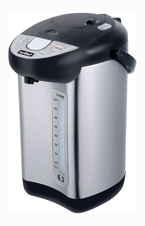 LE'CHEF ELECTRIC HOT WATER POT 6.3 QT MODEL# LC6366S