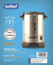 LE'CHEF ELECTRIC HOT WATER URN 30 CUP MODEL# LUR30