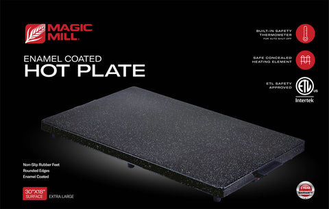 MAGIC MILL SHABBAT ENAMEL HOT PLATE WITH BUILT IN SAFETY THERMOSTAT MODEL# MHPE803 (X-LARGE)