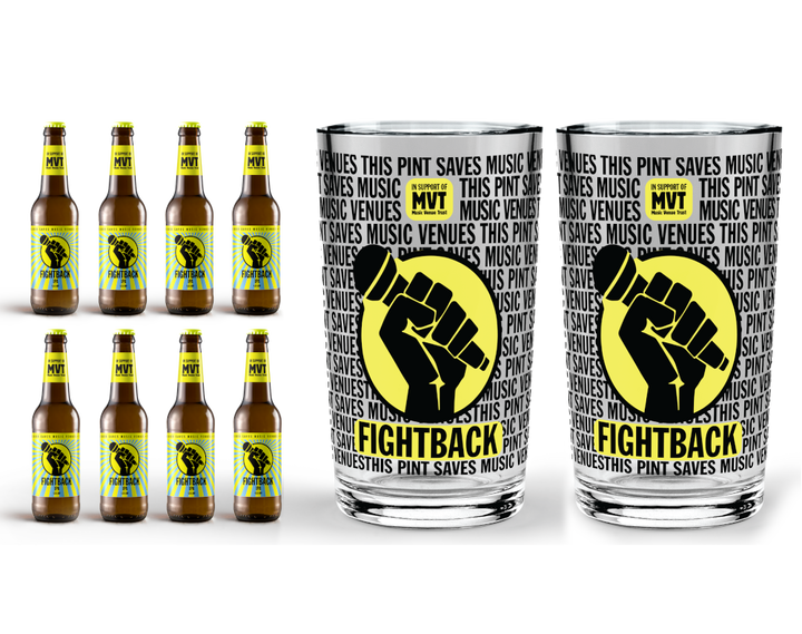 Buy Fightback IPA 8 Pack with 2 Fightback Pint Glasses