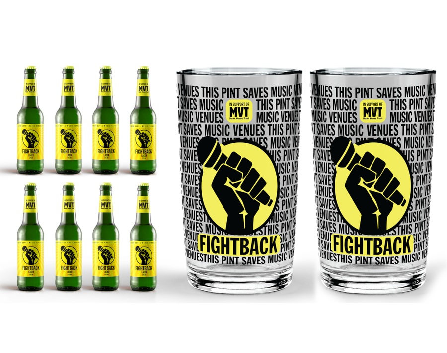 Fightback Lager Pack with 2 Fightback pint glasses