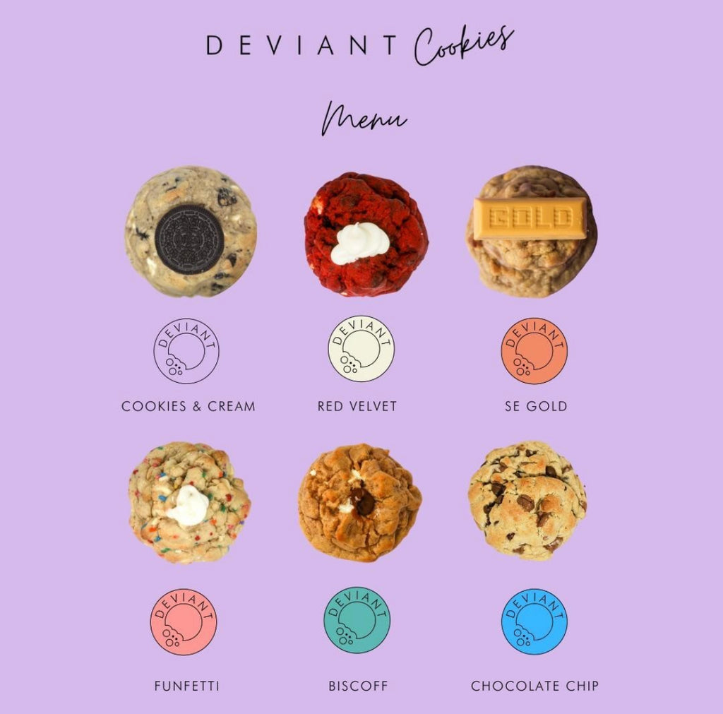 Purple Menu | Mixed Box of 6 Cookies | Dispatch Date: 17th May (1-2 Day Delivery)