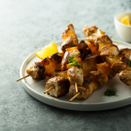 Grilled Chicken Skewers With Romesco Sauce