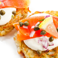 Wild Smoked Salmon With Potato Pancakes