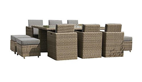 Royalcraft Wentworth Rattan 10 Seater Cube Set.