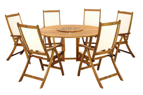 Royalcraft Henley 7pc Round Wooden Dining Set.