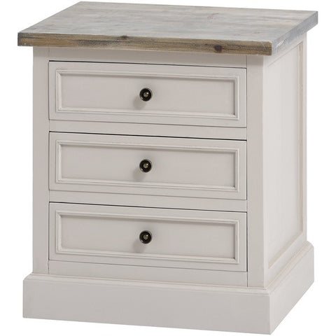 Studley Collection 3 Drawer Side Table/ Bedside