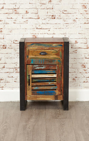 Urban Chic Reclaimed 1 Door 1 Drawer Lamp Table