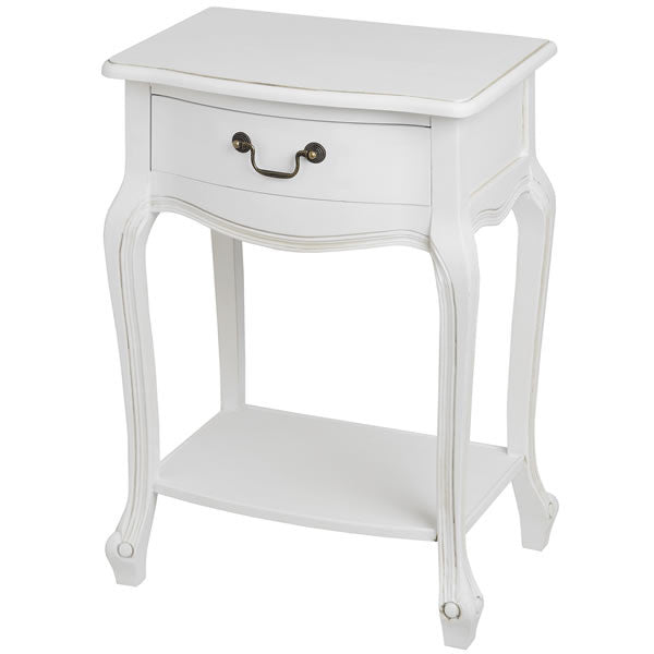 Classic White Painted Bedside Table - lovefurnitureuk