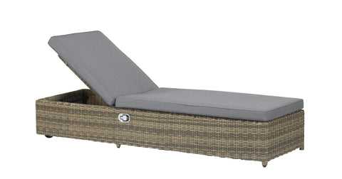 Royalcraft Wentworth Rattan Lounger With Hydraulic Back.