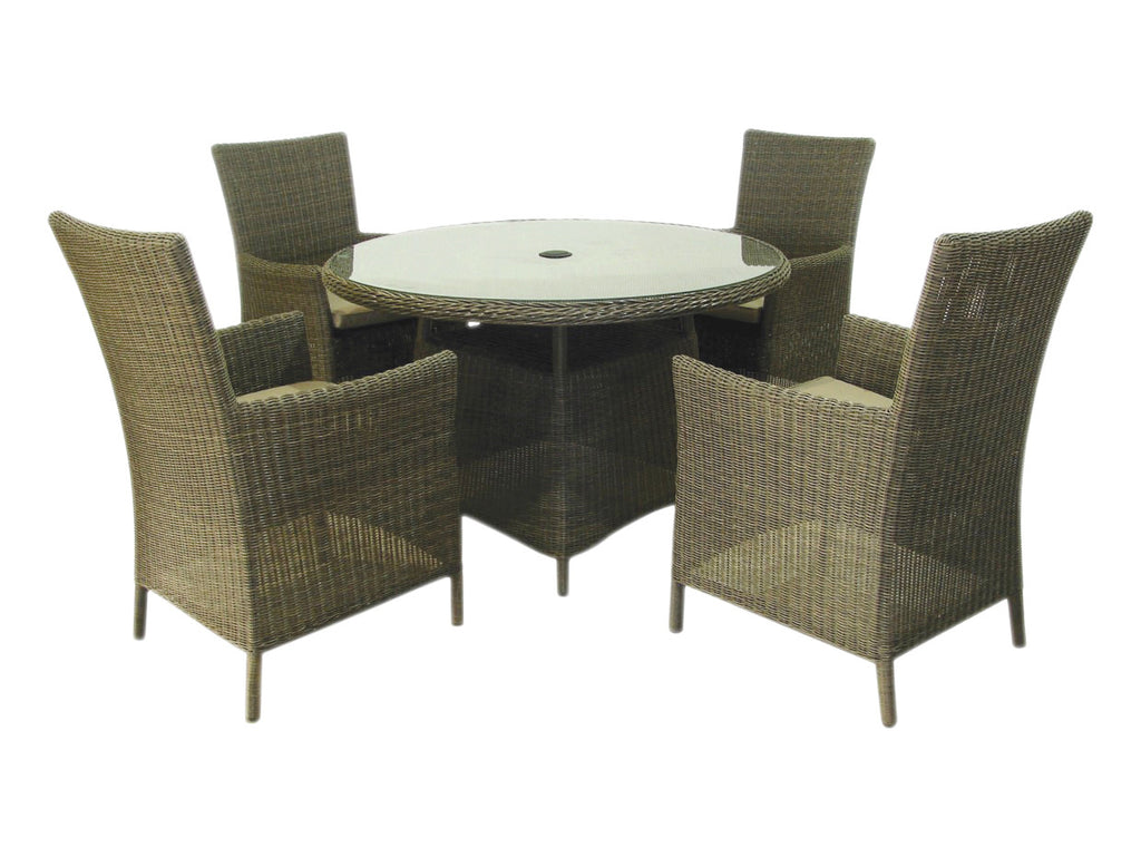 Royalcraft Rattan St Tropez 4 Seat Dining Set - lovefurnitureuk
