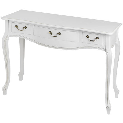 Classic White Painted 3 Drawer Console