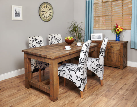 Heyford  Wooden Rough Sawn Oak 4 Seater Dining Table