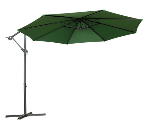 Royalcraft Green 3m Cantilever Powder Coated Parasol