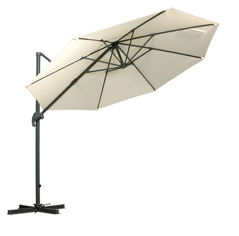 Royalcraft Ivory 3m Deluxe Cantilever Parasol