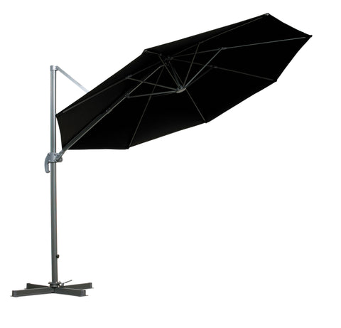 Royalcraft Black 3m Deluxe Cantilever Parasol