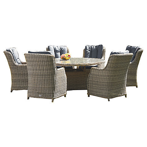 Royalcraft Wentworth Rattan 7 Piece Comfort Dining Set - lovefurnitureuk