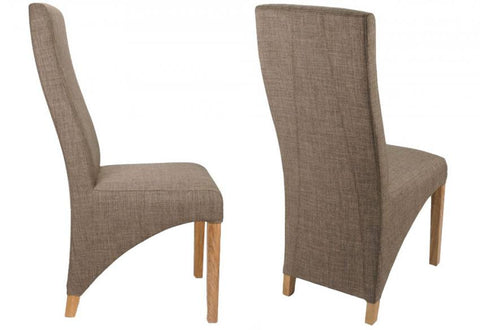 Two Shankar Baxter Linen Style Cinnamon Chairs