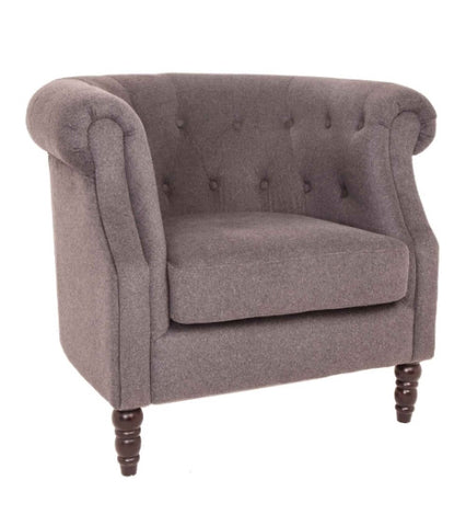 Alda Occasional Chair in Grey Wool