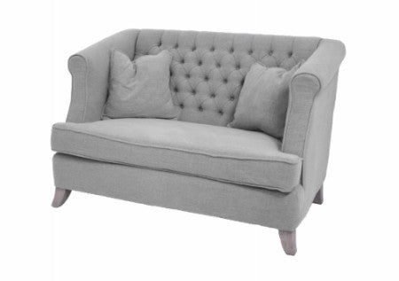 Anacapri Upholstered Grey Linen Sofa