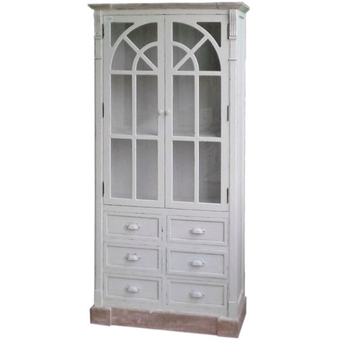 New England Shabby ChicTall Glazed Unit