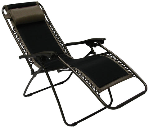 Royalcraft Black Padded Textylene Zero Gravity Chair