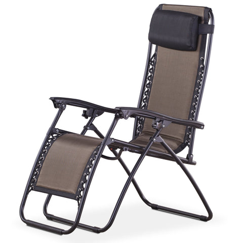 Royalcraft Brown Padded Textylene Zero Gravity Chair