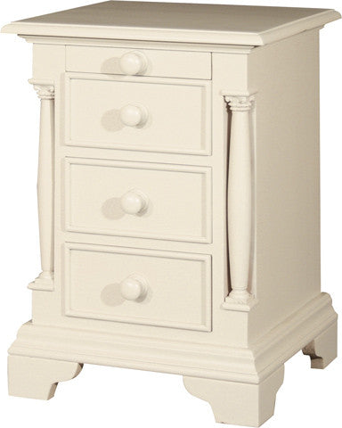 Canterbury Painted Cream Three Drawer Bedside