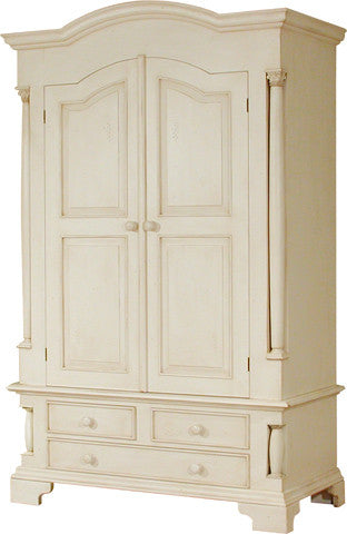Canterbury Painted Cream Double Wardrobe