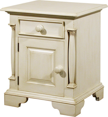 Canterbury Painted Cream Left Hand Drawer Bedside