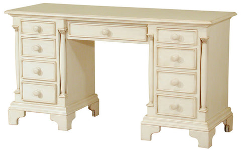 Canterbury Painted Cream Twin Pedestal Desk