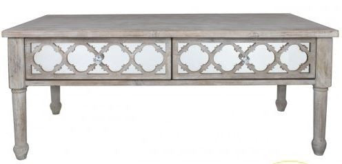 Hamlin Beach Mirrored 2 Drawer Coffee Table - lovefurnitureuk