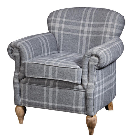 Chatsworth Plush Blue Padded Armchair