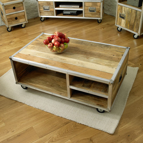 Roadie Chic Wooden Open Coffee Table