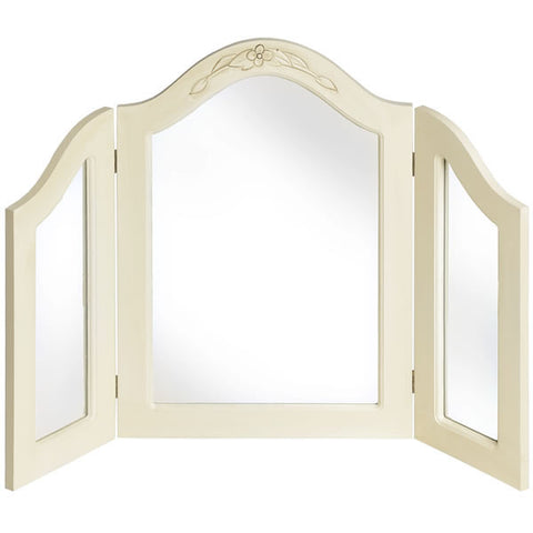 Country Cream Shabby Chic 3 Way Dressing Table Mirror