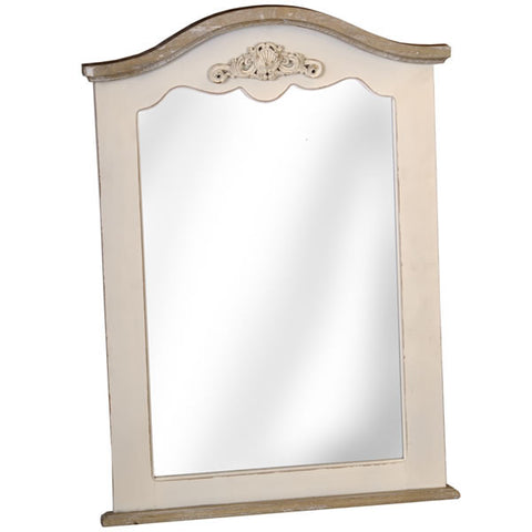 Country Cream Shabby Chic Curved Mirror
